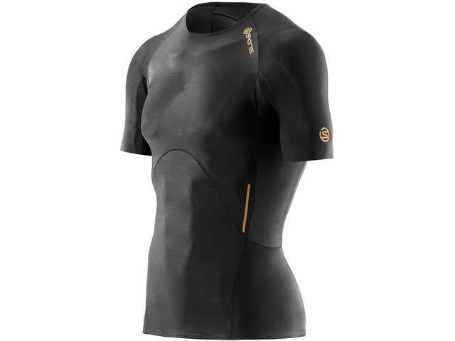 Skins M's A400 Top Short Sleeve Black/Gold